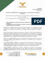 APRUEBA MOVIMIENTO CIUDADANO PROCESOS DE SELECCIÓN DE CANDIDATOS PARA LOS ESTADOS DE OAXACA Y PUEBLA