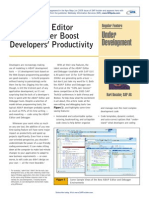 New ABAP Editor and Debugger Boost Developer's Productivity