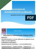Velocidad de Sedimentacion Globular