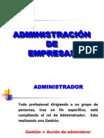 ADMINISTRACIÓN DE EMPRESAS 2009