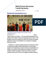 World Buddhist Forum Discusses Building of World Harmony