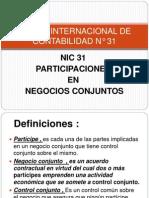 NORMA INTERNACIONAL DE CONTABILIDAD N° 31