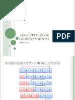 Algoritmo Ordenamiento Selección