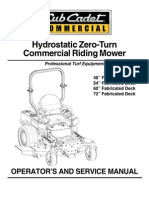 Cub Cadet m60 Tank Ops Manual 02003427-07-1