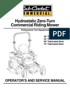 Cub Cadet m60 Tank Ops Manual 02003427-07-1 | Battery