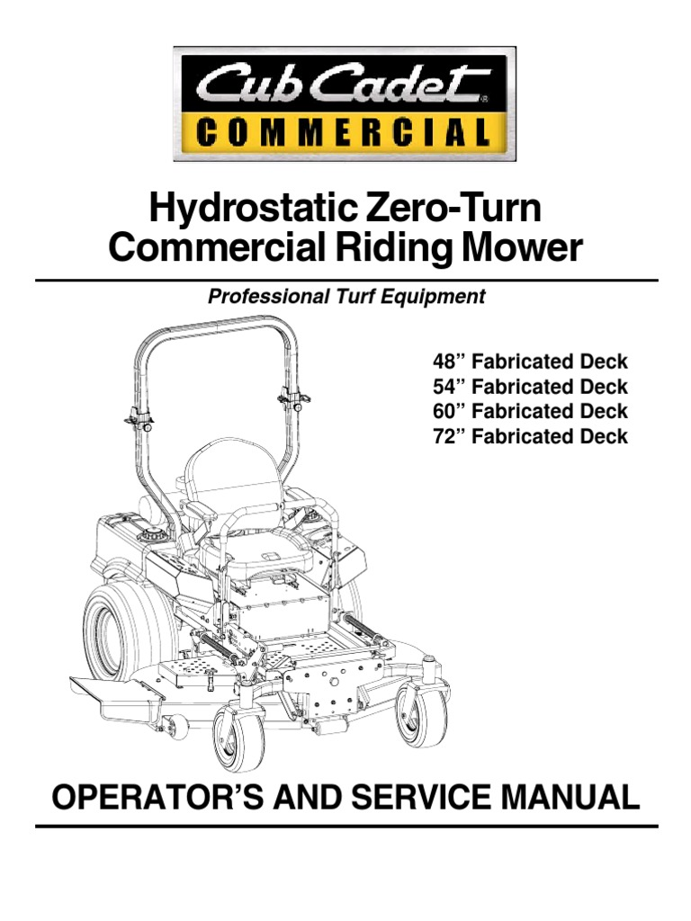 Cub Cadet m60 Tank Ops Manual 02003427-07-1 | Battery (Electricity on