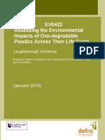 Loughborough University Oxydegradable Study