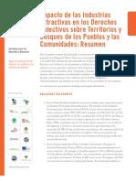 Impacto de las Industrias Extractivas en los Derechos Colectivos sobre Territorios  y Bosques de los Pueblos y las Comunidades- Resumen .pdf