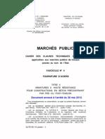 F4-II - Fourniture d'Aciers