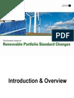 The Economic Impact of Renewable Portfolio Standard Changes