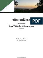 Selections from the Yoga Vasishtha of Valmiki, tr. Vihari Lala Mitra