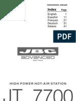Manual JT7700