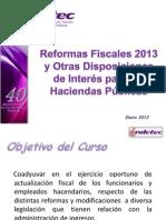 INDETEC Material Curso de Reformas Fiscales 2013