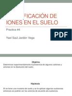IDENTIFICACIÓN DE IONES EN EL SUELO