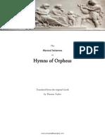 Hymns of Orpheus, tr. Thomas Taylor