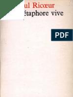 Paul Ricoeur-La métaphore vive-Seuil (1975)
