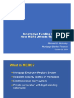 Innovative Funding Strategies-How MERS Affects Warehousing - Michael McAuley 2004