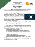 Edital Processo Seletivo 2013-1
