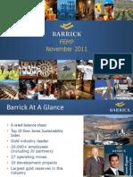 Barrick Gold FEMP 2011