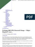 """Exchange 2003 OWA Password Change – """"Object Required"""" error… — www.telnetport25"""