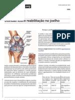 reabilitação de joelhos