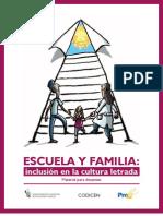 Escuela y Familia - Inclusion en La Cultura Letrada