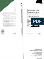97619017 Dilthey Dos Escritos Sobre Hermeneutica OCR
