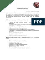 Comunicado Público Nº2 - 2013