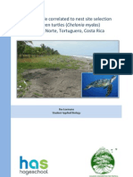 green turtle nest site selection and beach profile ilse leemans website pdf2