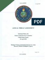 DIA Threat Assessment