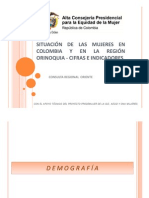 Mujeres Region Oriente