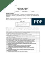 Anexo C - Prueba Piloto, Escala ACTI-BITS - Daniel Pinto y Clíver Sánchez