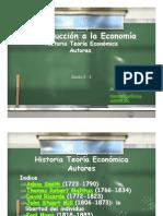 Historia Teoria Economica Autores Sesion2-3