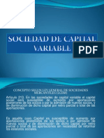 Sociedad de Capital de Variable