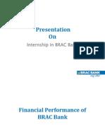 Financial performance of Brac Bank