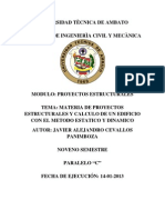 Proyectos Estructurales_Javier Cevallos