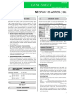 Fuji Neopan Acros 120 Film Data Sheet