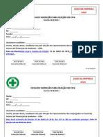 Formulário de inscrição da CIPA