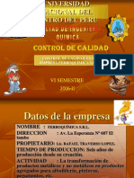 Control de Calidad Empresa Ferroquimica
