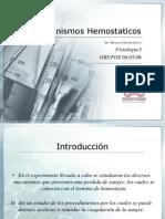 Mecanismos Hemostaticos - Fisiologia I Discucion 3