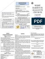 Church Newsletter - 21 April 2013.1