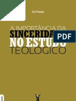 A Importancia Da Sinceridade Nos Estudos Teologicos-Carl Trueman