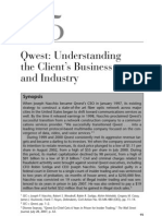 Qwest - Understanding Client's Business and Industry
