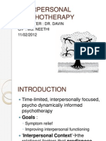 Interpersonal Psychotherapy New