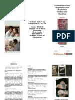 Tríptico Seminario conservación y restauración de bienes culturales muebles