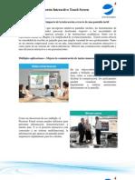 Catalogo para Pizarrón Interactivo Touch Screen