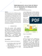 A Review on Performance Analysis of Field Effect Devices at Microwave Frequencies