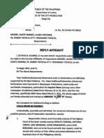 Reply to Counter Affidavit