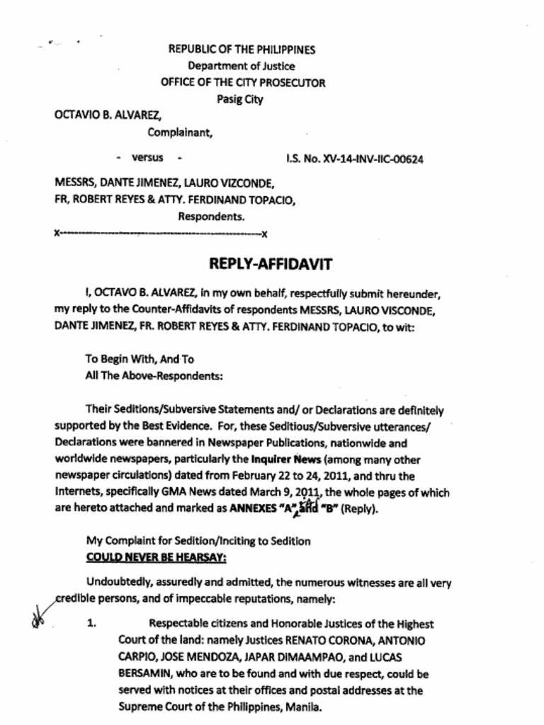 Doc400518 How to Write a Legal Affidavit Sample Affidavit