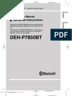 Pioneer Deh-P7850bt manual